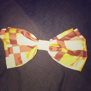 Large Checkered Patterned Hair Pin